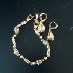 Givenchy bracelet and earring set